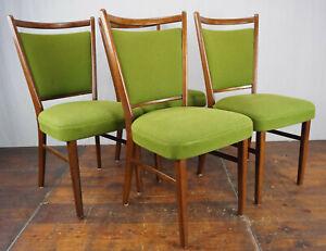 Dining Room Chair Vintage 4x Kitchen 60er mid-Century Danish Modern 60s