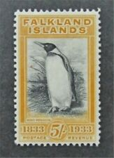 nystamps British Falkland Islands Stamp # 74 Mint OG H $845