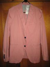 Sisley Men's Jacket Medium Pink Slim Fit
