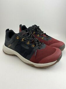 Keen Explore Vent Black Merlot Red Trail Hiking Ankle Shoes Mens 8.5 New