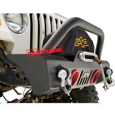 1987-2006 Jeep Wrangler TJ/YJ Front Bumper W/ Colored Light Frame Black Steel
