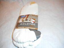 N/W/B 3 Pairs Gold Toe Loafer Short, Men White Socks, Sock Size 10-13