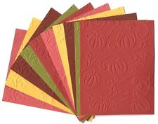 10 PUMPKINS Embossed A2 Card Fronts Recollections Spice Market Cardstock