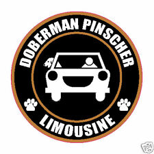 "Limousine Doberman Pinscher 5"" Dog Sticker"