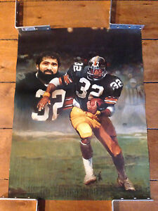 PITTSBURGH STEELERS POSTER FRANCO HARRIS 24 X 18 INCHES QTY