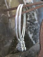 Silver Plated Hoops Lotus Kwan Buddha Handcrafted Earrings-Yoga Ohm