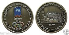 e433 RUSSIA 2014 SOCHI Olympic Games - Romanian Numismatic Society Medal