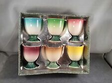 Vintage 1950'S Set Of 6 Lefton Egg Cups In Original Box