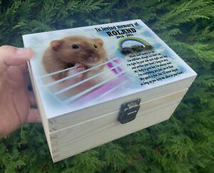Personalised pet Rat wooden urn for ashes, Memorial keepsake box, Memory box.