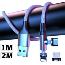 1m 2m 3A Magnetic Lead For Apple Type C Micro USB Data Fast Charge Charger Cable