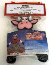 "Fibre Craft Cow Air Freshener Doll 5 3/4"""