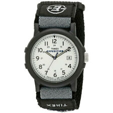 Timex Mens Camper Wrist Watch Analog, Black Resin Case, White Face Casual