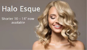 """Halo Esque Secret Wire Hair Extensions Short Thickness Boost 120g Wider 12.5"""""""