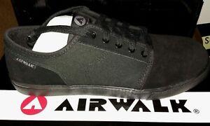 Airwalk Tempo 2 Skate Shoes Mens 9 Black/black Skateboarding Trainers Sneakers