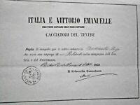 RISORGIMENTO FOGLIO DI CONGEDO CACCIATORI DEL TEVERE FIRMATO C. MASI
