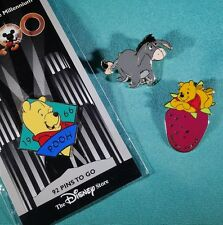 3 Disney Pins Winnie the Pooh Berry Sweet Eeyore Standing Pooh Millennium Pin