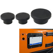 3* For Jeep Wrangler JK 2007~17 Tailgate Rubber Plug Spare Tire Carrier Delete