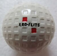 VINTAGE SQUARE MESH GOLF BALL  THE SPALDING KRO-FLITE   REPAINTED  CIRCA 1930'S