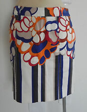 Etcetera Skirt Multi-Color Cotton Size 2 Pencil Style Above the Knee