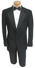 Men's Chaps Black Tuxedo Jacket with Grosgrain Satin Notch Lapels Wedding Mason