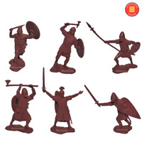Publius Toy Soldier Saxons Collectible Scale 1/32 New