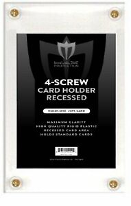 Case of 200 Max Pro Recessed 4-Screw Ultra Clear Trading Card Holders