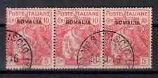 SOMALIA 1916 Croce Rossa 3x10c + 5c USATO (CL)