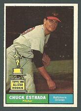 Chuck Estrada Baltimore Orioles 1961 Topps Card #395