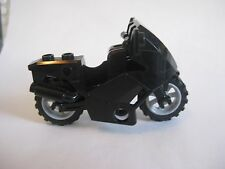 Lego MOTORCYCLE for Minifigures to Ride - City Town Catwoman -BLACK-