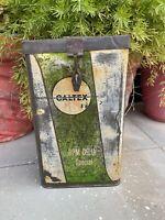 Vintage Old Caltex Motor Oil Adv Sign Original Tin Made Storage Tin Sign Box