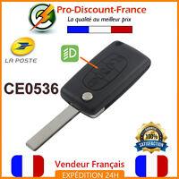 Clé Pour Peugeot Citroën 3 boutons Coque Plip Télécommande CE0536 HU83