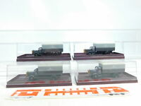 BX250-0,5# 4x Brekina 1:87/H0 LKW Mercedes/MB Deutsche Post Osten, NEUW+OVP