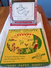 Old Vintage Star Graph Educational Toy Game Teaches Draw Write Print