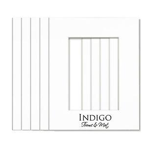 SET of 5 - 16x20 White SINGLE MATS, fit 11x14 photo art