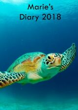 Turtle Softback Printed Personalise Diary Any Date Name A5 Week to Page