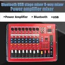 PMR806D Bluetooth USB Pro Stage Mixer 8 Channel Power Mixing Amplifier Mp3