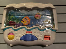 Fisher Price Ocean Wonders Aquarium Baby Crib Soother Light Sounds - GUC