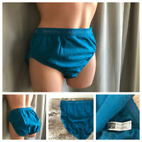 80's Hanes Her Way Cotton Panties Blue Logo Stretch Band Hi-Cut Panty Briefs 8