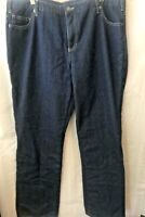 Dickies Womens Jeans Plus Size 18 R Flannel Lined Dark Wash Straight Leg Cotton