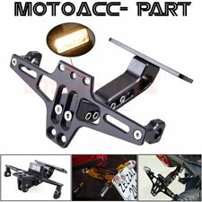 Black Aluminium Alloy Motorcycle License Plate Holder Rear Bracket Folding Mount (Fits: Coyote)