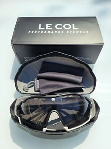 Le Col X Rudy Project Cutline Cycling Sunglasses - Black/White with Smoke Lens
