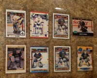 (8) Curtis Joseph Rookie card lot 1990-91 O-pee-chee Premier Upper Pro Score RC