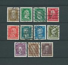 DEUTSCHES REICH - 1926-27 YT 379 à 389 - TIMBRES OBL. / USED