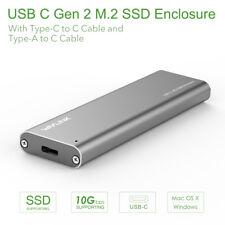 Wavlink USB 3.1 Type-c GEN 2 M.2 NGFF SSD Enclosure Support Windows &Mac OS