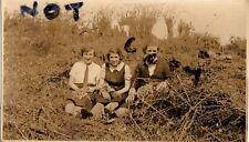 WW2 WLA Womens Land Army on Farm taking a well earned rest