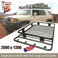 4WD SUV STEEL ROOF BASKET CARGO LUGGAGE TRAY CARRIER RACK 1200mm x 2000mm