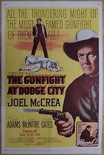GUNFIGHT AT DODGE CITY (1959) - original US 1 Sheet film/movie poster, western