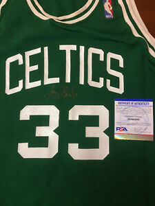 Larry Bird Signed Vintage MacGregor Boston Celtics Basketball Jersey PSA COA