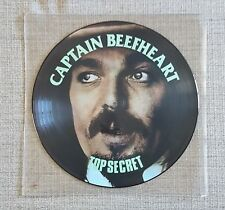 "CAPTAIN BEEFHEART-TOP SECRET-12"" PICTURE DISC LP ISSUED ON DESIGN/PRT RECORDS"