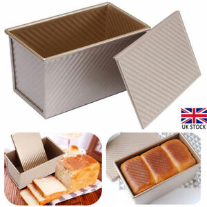 Rectangle Toast Box Kitchen Bread Loaf Tin Pan Mold Baking with Lid Non Stick